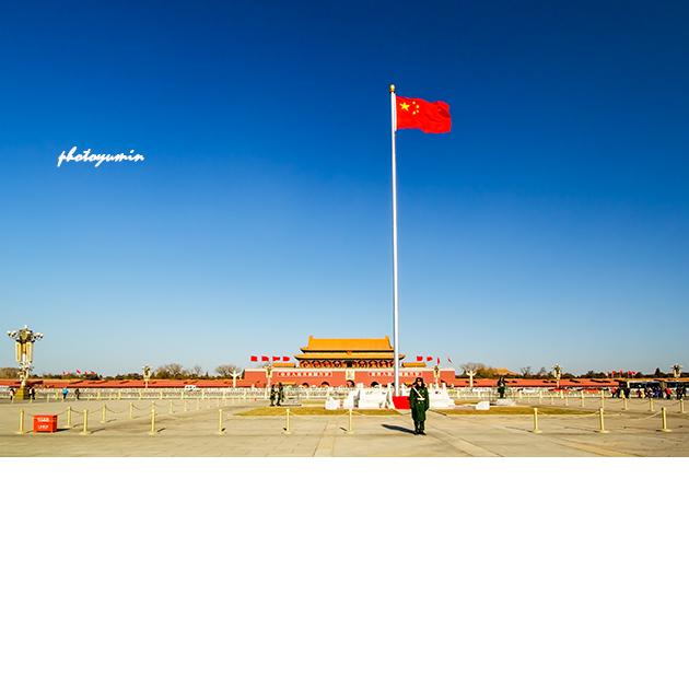 北京天安门广场,国旗