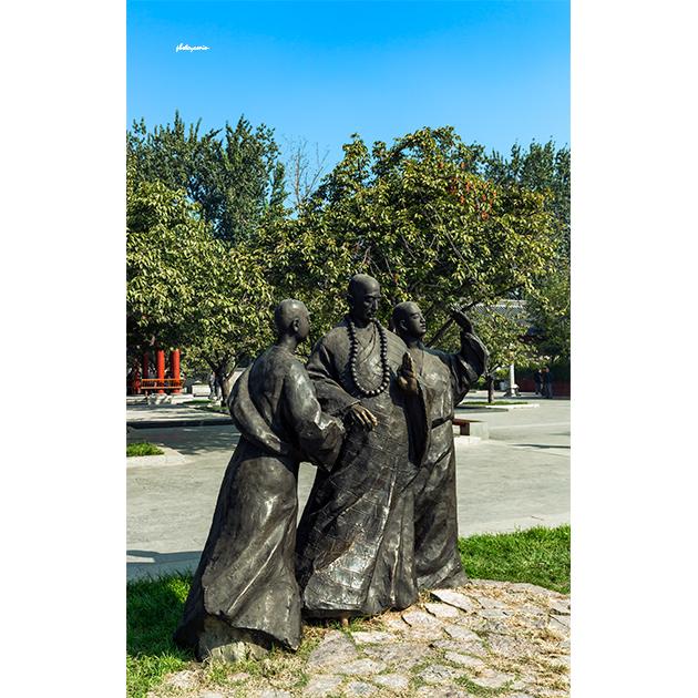 大雁塔广场雕塑,铜像